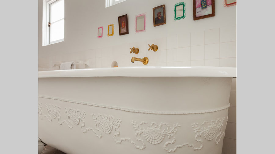 Leterrier Residence Imported Bathtub - renovation by Scott Lander Design