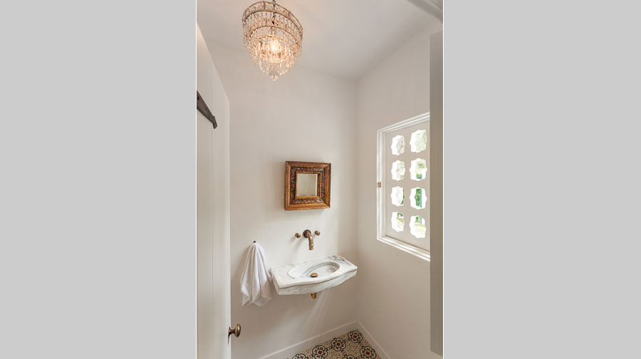 Leterrier Residence Powder Room - renovation by Scott Lander Design